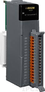 I-8052W Высокопрофильный модуль ввода, 8 каналов дискретного ввода, контакт с внешним питанием, с изоляцией до 5000В, параллельная шина