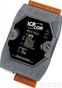 PET-7052 Модуль ввода - вывода, 8 каналов дискретного ввода, мокрый контакт / 8 каналов дискретного вывода, PoE