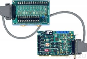 A-823PGL/S Многофункциональный адаптер ISA, 16SE/8D каналов АЦП, 2 канала ЦАП, 16DI, 16DO, таймер, плата клеммников DB-8225 и кабель CA-3710