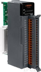 I-8056W Высокопрофильный модуль вывода, 16 каналов дискретного вывода, открытый коллектор, без изоляции, параллельная шина
