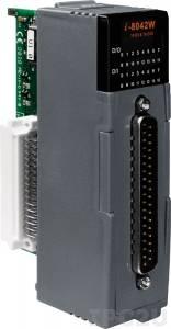 I-8042W Высокопрофильный модуль ввода - вывода, 16 каналов дискретного ввода, контакт с внешним питанием / 16 каналов дискретного вывода, открытый коллектор, с изоляцией до 3750В, параллельная шина