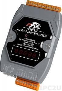 uPAC-7186EXD-MTCP PC-совместимый промышленный MTCP контроллер 80МГц, 512кб Flash, 640кб SRAM, 2xRS232/485, Ethernet, MiniOS7