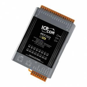 PET-7252 Модуль ввода - вывода, 8 каналов дискретного ввода, мокрый контакт / 8 каналов дискретного вывода, 2xEthernet, PoE