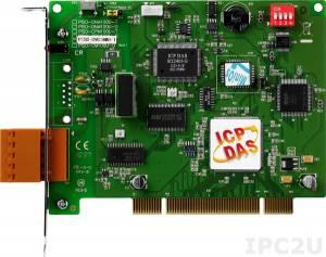 PISO-DNS100U-T 1-портовый Universal PCI адаптер интерфейса DeviceNet, разъем 5-конт. клеммная колодка