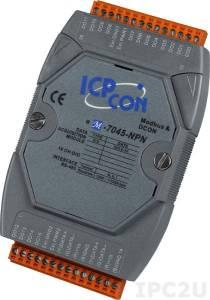 M-7045-NPN Модуль вывода, 16 каналов дискретного вывода, c изоляцией до 3750 В, Modbus RTU