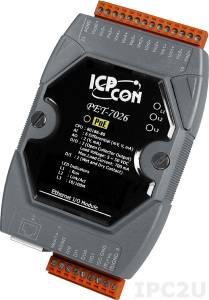 PET-7026 Модуль ввода-вывода, 6 каналов аналогового ввода, 2 канала аналогового вывода, 2 канала дискретного ввода, 2 канала дискретного вывода, PoE