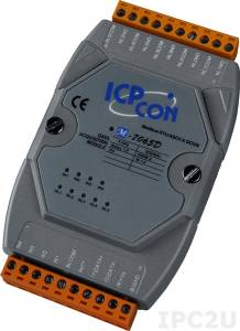 M-7065D Модуль ввода - вывода, 5 каналов мощного релейного вывода / 4 канала дискретного ввода, c изоляцией до 3750 В и индикацией, Modbus RTU
