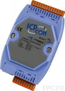I-7188E4 Программируемый Преобразователь последовательных интерфейсов, 3xRS-232, 1xRS-485