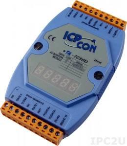 I-7080D Модуль ввода - вывода, 2 канала счетчика/частотомера / 2 канала дискретного вывода, с индикацией