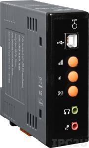 USB-2020 USB модуль аудио, 32/44.1/48 кГц, 8/16 bit стерео аудио выход, 8/10.025/16/22.05/32/44.1/48 кГц, 8/16 bit стерео микрофонный вход, питание +10...30В DC