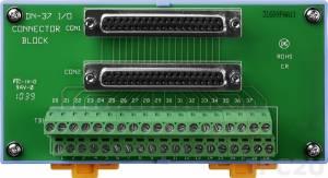 DN-37 Плата клеммников с разъемом DB-37, монтаж на DIN-рейку, кабель CA-3710 (37-pin Male-Male D-sub 1.0 m), до 50В