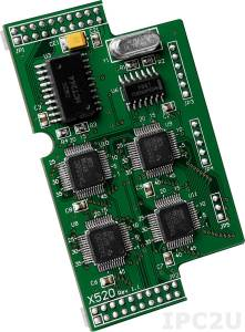 X520 Плата дискретного ввода-вывода, 1 каналов DI, 2 канала DO, 4xRS-232