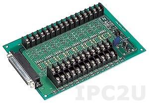 DB-8225/1 Плата клеммников с разъемом DB-37, кабелем 1м и датчиком компенсации температуры холодного спая