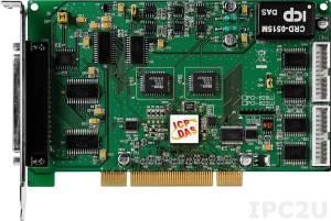 PCI-822LU Многофункциональный адаптер Universal PCI, 32SE/16D каналов АЦП, 2 канала ЦАП,32 программируемых канала DIO, разъем CA-4002