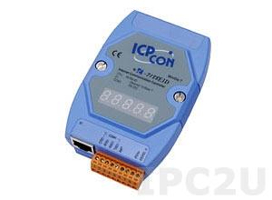 I-7188E5D Программируемый Преобразователь последовательных интерфейсов, 4xRS-232, 1xRS-485, 7-сегментный индикатор