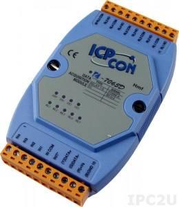 I-7065D Модуль ввода - вывода, 5 каналов мощного релейного вывода / 4 канала дискретного ввода, c изоляцией до 3750 В и индикацией