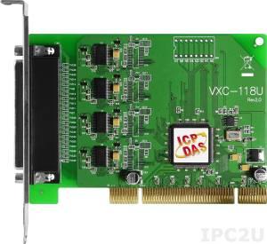 VXC-118U Universal PCI адаптер 8xRS-232 115.2кбод