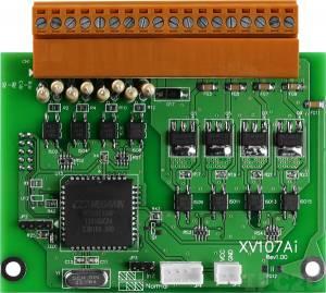 XV107A Плата дискретного ввода-вывода, 8 каналов DI приемник, 8 канала DO источник для VPD-132/133, ModBus RTU, RoHS