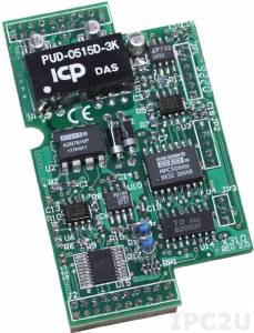 X310 Модуль 2 AI (0...20мА, 0...10В), 2 AO (20мА, 0...10В), 3 DI (3.5...30В DC), 3 DO (макс 30В DC) для I-7188XB/EX