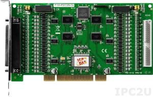 PISO-P32C32U-5V 64-канальный Universal PCI адаптер дискретного ввода-вывода (32DI, 32DO) с гальванической изоляцией, переходник CA-4037x1, разъем CA-4002x2