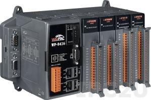 WP-8436-EN PC-совместимый промышленный контроллер PXA270 520МГц, 128Mб RAM,128Mб Flash, 2xRS-232, 1xRS-485, 1xRS-232/485, 2xEthernet, Win CE 5.0, 4 слота расширения, ISaGRAF 3.5, Indusoft 300 тегов