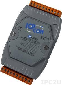 M-7059 Модуль ввода, 8 каналов дискретного ввода АС, c изоляцией до 5000 В, Modbus RTU