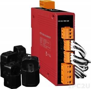 PM-3114-100-MTCP 4-канальный, 1-фазный компактный измеритель напряжения и тока, CT:2pcs, кабель 10мм (0-60A), до 300 В, 50/60Гц, Modbus TCP