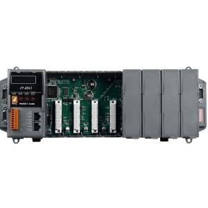 iP-8841-FD PC-совместимый промышленный контроллер 80МГц, 768кб SRAM, 512кб Flash, 64 MB NAND Flash диск, 2xLAN, 2xRS232, 1xRS485, 1xRS232/485, 7-сегментный индикатор, 8 слотов расширения, Mini OS7