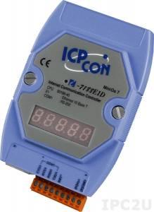 I-7188E1D Программируемый Преобразователь последовательных интерфейсов, 1xRS-232, 7-сегментный индикатор