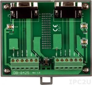 DB-8425/DIN Плата клеммников для PISO-DA2, монтаж на DIN-рейку