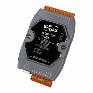 WISE-7150 Web-программируемый контроллер, 16-bit CPU, 512 кб SRAM, 512 Кб Flash, 12 каналов дискретного ввода, 6 каналов дискретного вывода, PoE, Modbus TCP
