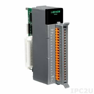 I-8014CW Высокопрофильный модуль ввода, 8 каналов аналогового ввода, 16-бит, точность 0.05%, параллельная шина