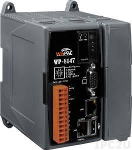 WP-8147-EN PC-совместимый промышленный контроллер PXA270 520МГц, 128Mб RAM, 96Mб Flash, 1xRS-232, 1xRS-485, 2xEthernet, 1 слот расширения, Win CE 5.0, ISaGRAF 3.5