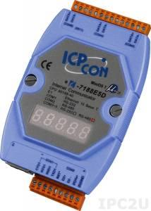 I-7188E5D-485 Программируемый Преобразователь последовательных интерфейсов, 1xRS-232, 4xRS-485, 7-сегментный индикатор