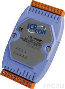 I-7065B Модуль ввода - вывода, 5 каналов вывода с твердотельного реле / 4 канала дискретного ввода, c изоляцией до 3750 В
