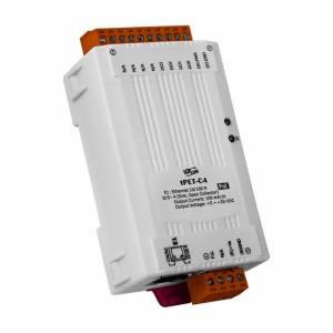 tPET-C4 Mодуль Ethernet, 4 канала дискретных вывода NPN, PoE