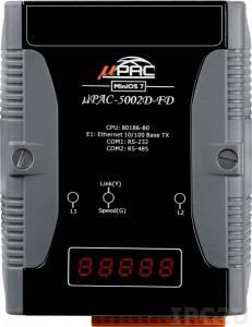 uPAC-5002D-FD PC-совместимый промышленный контроллер 80MHz, 512KB Flash, 768KB SRAM, 16KB EEPROM, 31B NVRAM, microSD, 64 MB Flash, 1xRS232, 1xRS485, 1xFastLAN, LED индикация, 12-48 VDC