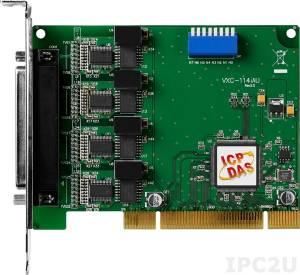 VXC-114iAU Universal PCI адаптер 4xRS-232 с изоляцией, 115.2кбод