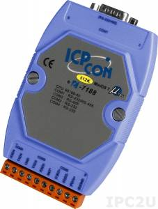 I-7188/512 PC-совместимый промышленный контроллер 40МГц, 512кб Flash, 256кб SRAM, 2xRS232, 1xRS485, 1xRS232/485, MiniOS7, кабель CA-0910x1