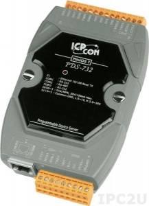 PDS-732 Программируемый Преобразователь последовательных интерфейсов, 2xRS-232, 1xRS-485, 4xDI/4xDO