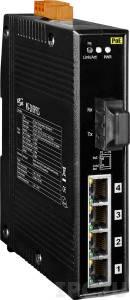 NS-205PFCS Промышленный 5-портовый неуправляемый коммутатор: 4 порта 10/100BaseT(X) c PoE IEEE 802.3af, 1 порт 100BaseFX (одномодовое волокно, разъем SC)