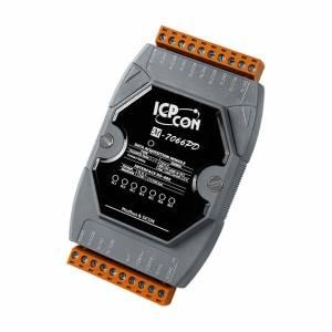 M-7066PD Модуль ввода - вывода, 7 каналов релейного вывода PhotoMOS, протоколы DCON и Modbus, с индикацией