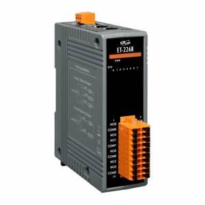 ET-2268 Модуль вывода, 8 реле, 2x Ethernet 10/100 Base-Tx, Modbus-TCP