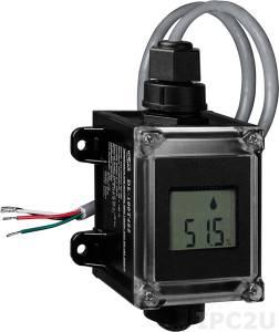 DL-100TM485 Модуль для измерения температуры и влажности с визуализацией и протоколированием данных, RS485, Modbus, черный корпус, RoHS