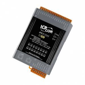 PET-7255 Модуль ввода - вывода, 8 каналов дискретного ввода, мокрый контакт / 8 каналов дискретного вывода, 2xEthernet, PoE