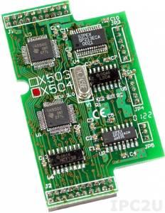 X504 Модуль 2xRS-232, 5-проводный интерфейс и полное модемное управление, для I-7188XB/EX