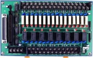 DB-24PRD/12/DIN Выносная плата 24 силовых реле (12В)(270Vac/150Vdc@5A), совместима с Opto-22, разъем DB37, монтаж на DIN-рейку