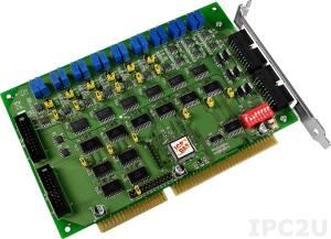 A-726 Адаптер ISA 6 каналов ЦАП, 12 бит, 16DI, 16DO