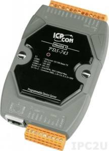 PDS-743 Программируемый Преобразователь последовательных интерфейсов, 3xRS-232, 1xRS-485, 4xDI/4xDO