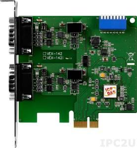 VEX-142i PCI Express адаптер 2xRS-422/485 115.2кбод с изоляцией